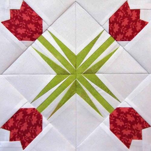 Twinkling Tulips Paper Pieced Block Pattern
