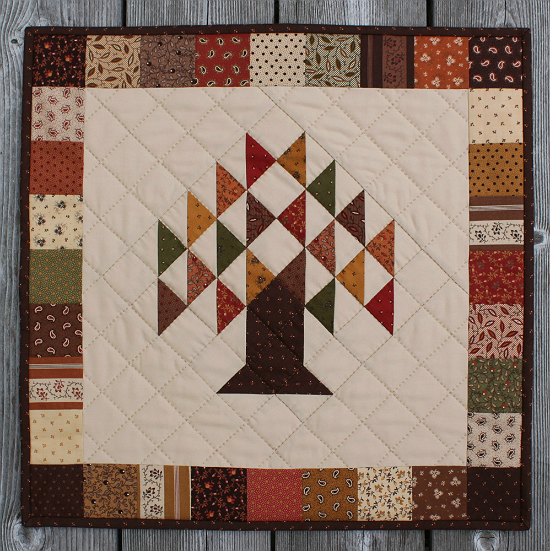 Turning Leaves Mini Quilt Tutorial