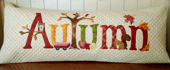 A Year in Words Pillow Pattern - Autumn