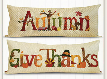 Autumn and Give Thanks Pillow Patterns