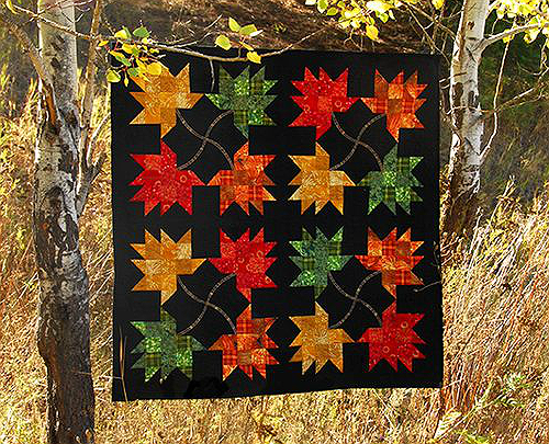 Falling Leaves Quilt and Pillow Pattern