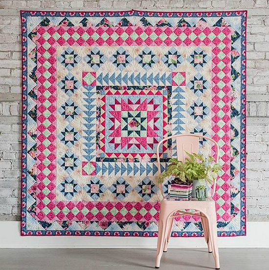 Garden Star Medallion Quilt Pattern
