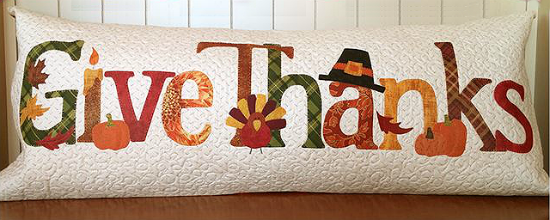 A Year in Words Pillow Pattern - Give Thanks