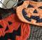 Pumpkin Heads Halloween Mug Mats Pattern