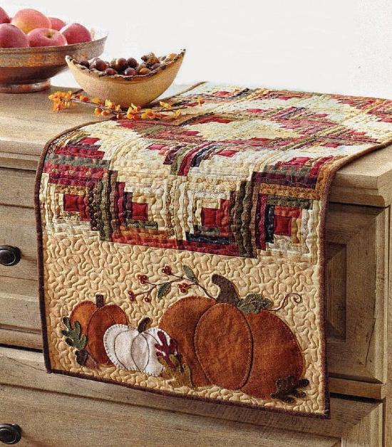 Pumpkin Spice Table Runner Pattern