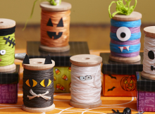 Cute DIY Spool Ghouls for the Spooky Season