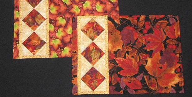 String of Diamonds Placemats Pattern