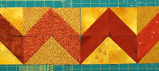 Make Striking Borders with Half-Square Triangles