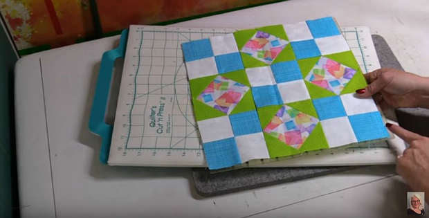 How to Square Up Quilt Blocks That Can't be Trimmed