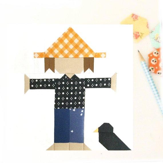 Scarecrow Quilt Block Pattern