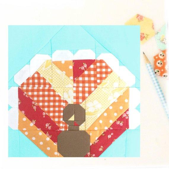 Turkey Quilt Block Pattern