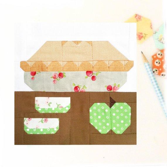 Apple Pie Quilt Block Pattern