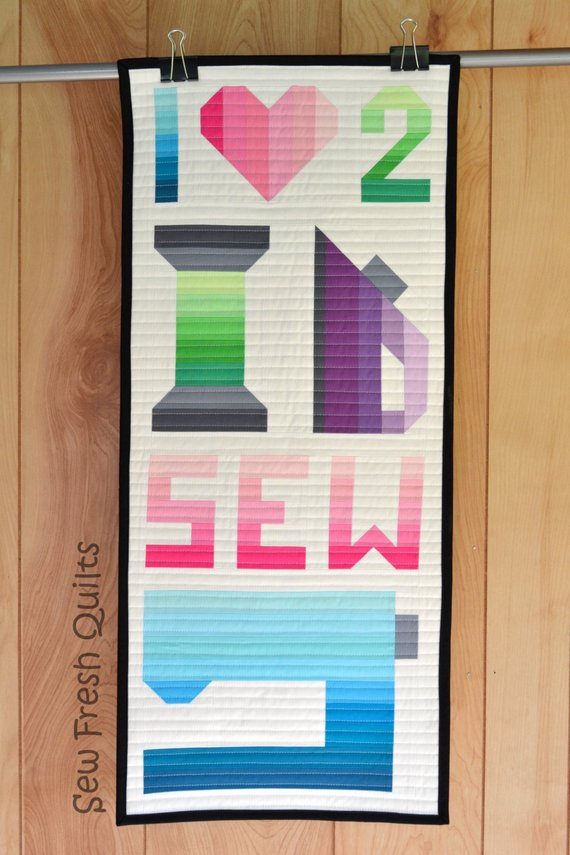 I Love 2 Sew Quilt Pattern