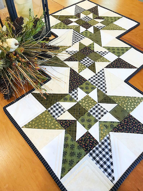 Cottage Star Table Runner Pattern