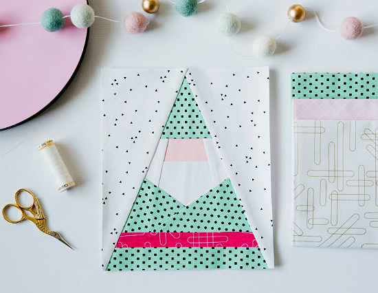 Santa Gnome Block Pattern