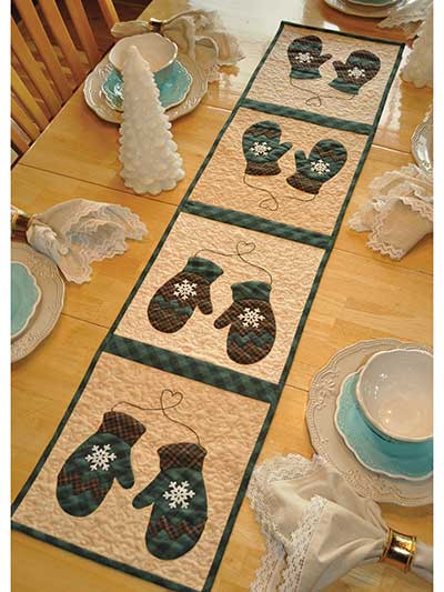 Vintage January Table Runner Pattern