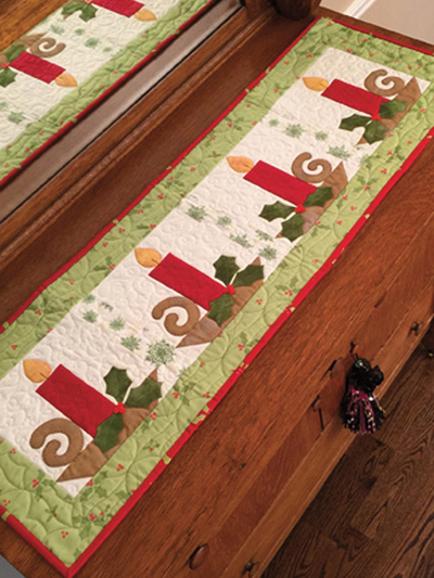 Christmas Candle Table Runner Pattern