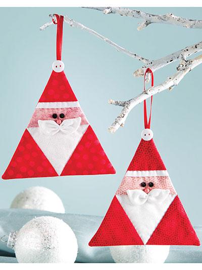 Triangle Santa Ornament Pattern