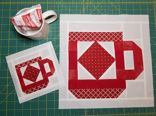 Cup of Cheer Block Pattern