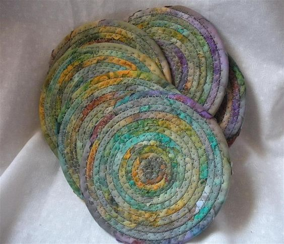 Use Up Scraps in Coiled Coasters, Trivets and More