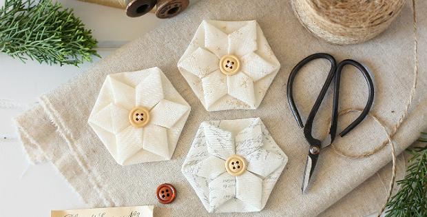 Folded Hexagon Ornament Tutorial