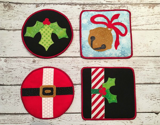Make It Merry Holiday Coasters