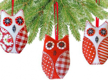 Owl Christmas Tree Decorations Pattern