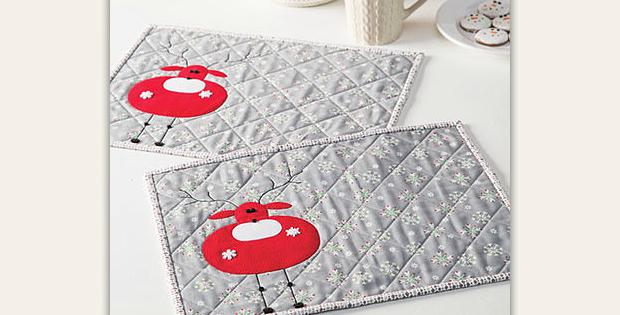 Reindeer Treats Place Mat Pattern