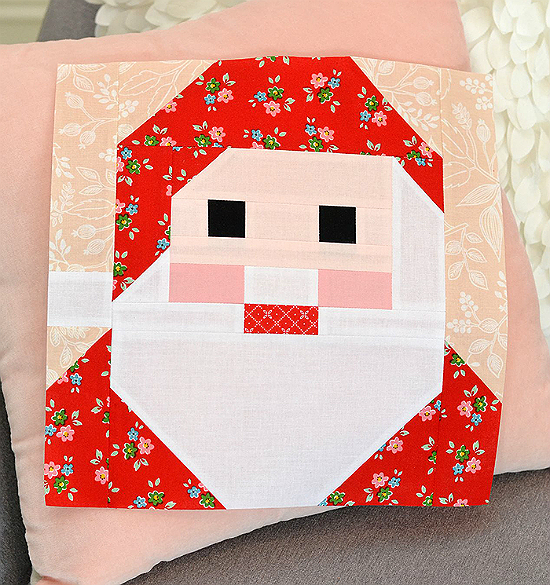 Santa Claus Quilt Block Pattern