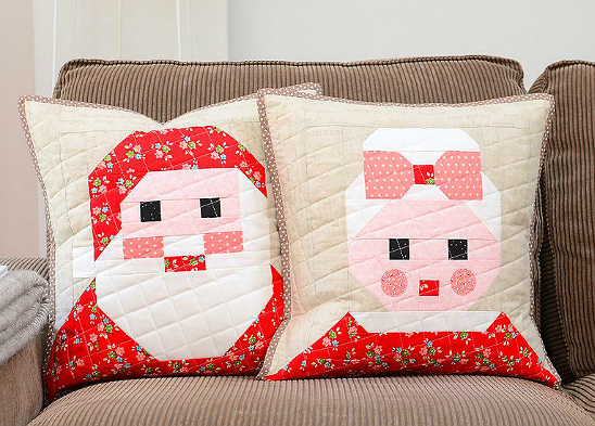Santa and Mrs. Claus Throw Pillows