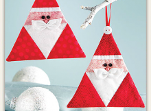 Triangle Santa Ornament Pattern