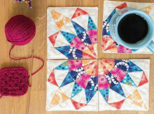 Mini Patchwork Curvy Coaster Set Pattern
