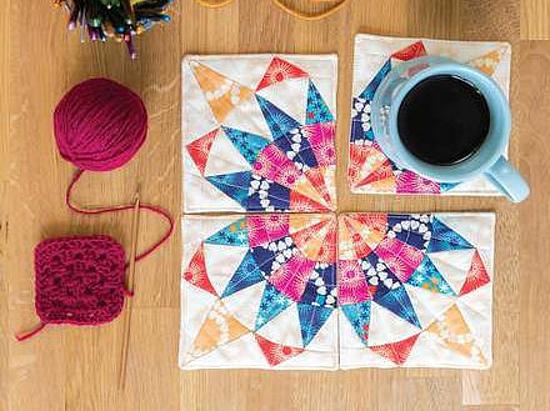 Mini Patchwork Curvy Coaster Set Pattern