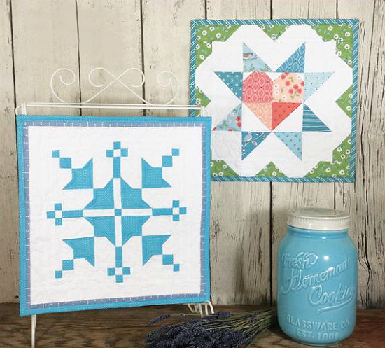 Barn Block Mini Quilt Series January February pattern