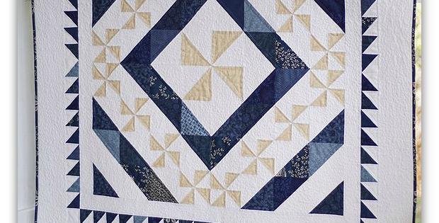 Indigo Snow Quilt Pattern
