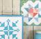 Barn Block Mini Quilt Series January February pattern