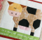 Patchwork Cow Mug Rug and Blocks