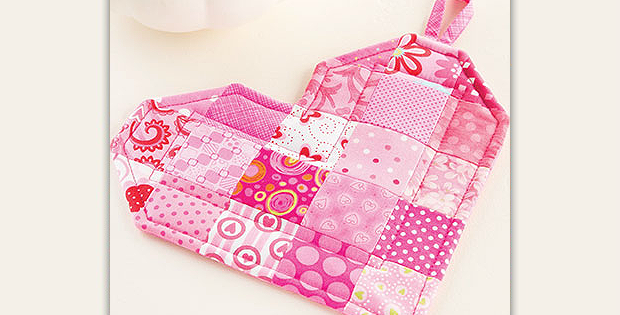 Patchwork Valentine Pot Holder Pattern