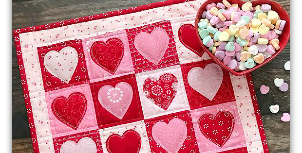 Valentine's Day Table Topper Pattern