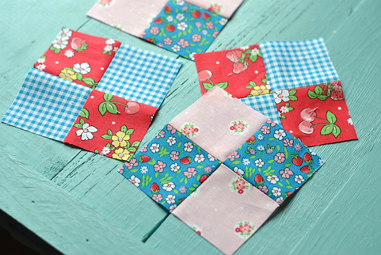How to Sew a 4-Patch Block from 2 Pre-cut Squares