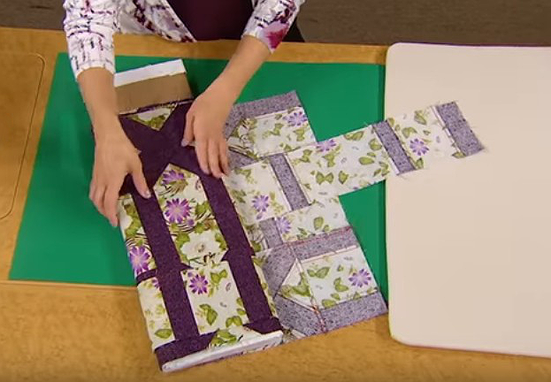 Transport Partially Pieced Tops without Folds