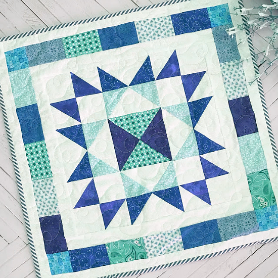 Scrappy Star Table Topper Quilt Pattern