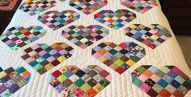Make your own sweet quilt from candy heart blocks quilting digest