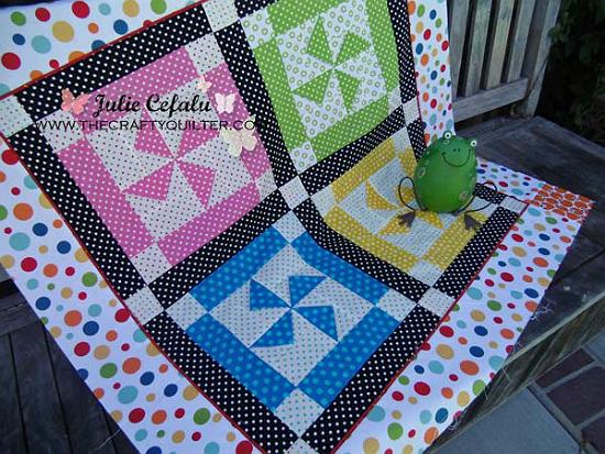 Dottie Pinwheel Block Quilt