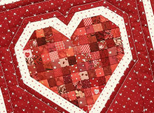 Petite Patch Heart Mini Quilt Pattern