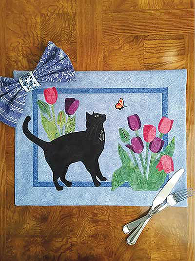 Trouble in the Tulips Place Mat Pattern