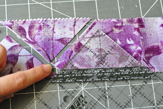 How to Make Half-Square Triangles from Pre-cut Strips