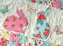 EZ Print Bunny Applique Pillow and Mini Quilt
