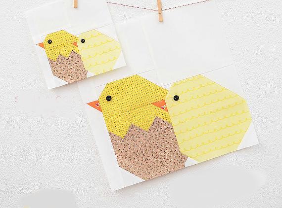 Little Chickens Quilt Block Pattern
