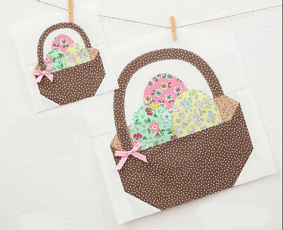 Easter Basket Quilt Block Pattern